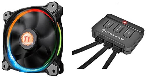 Thermaltake Riing 14 LED - Ventilador de 140 mm, Color Negro ...