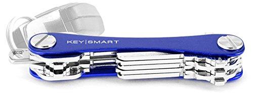 KeySmart - Llavero y Organizador de Llaves Compacto (hasta 14 Llaves, Azul)