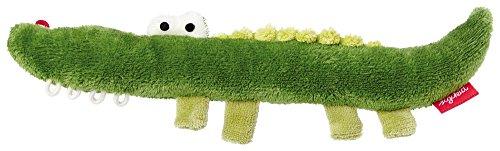 sigikid, 41178, fille et garçon, hochet en tissu crocodile, vert