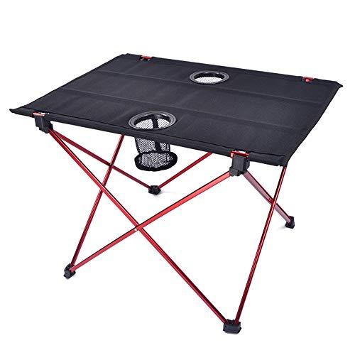 AZXAZ Campingtisch Faltbar Klein Tisch im Freien mit Becherhalter Aluminiumlegierungs Rahmen Tragbarer Reisetisch für Picknick Lager Strand