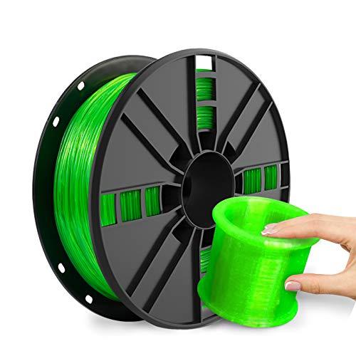 NOVAMAKER TPU Filament 1.75mm, Green Flexible TPU 3D Printer Filament with 20g Cleaning Filament, 2.0lbs Spool, Dimensional Accuracy +/- 0.05mm, 95A Soft TPU Green