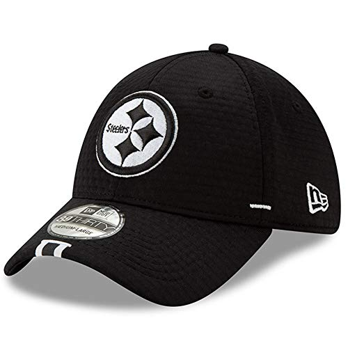 New Era Pittsburgh Steelers NFL 2019 Training Camp 3930 39THIRTY Flexfit Cap Hat Black - Pittsburgh Steelers,Black,M/L