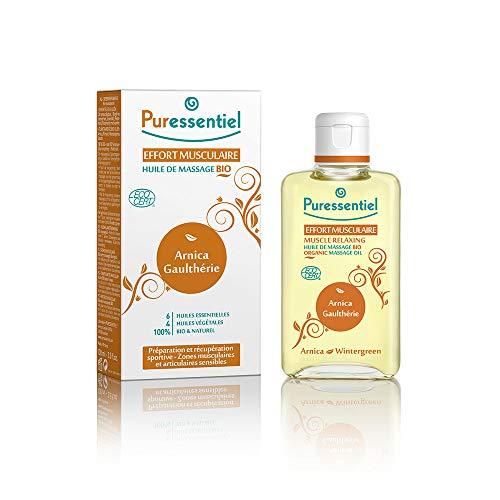 Puressentiel - Articulations et Muscles - Huile de Massage Bio - Préparation et récupération sportive - 100 ml
