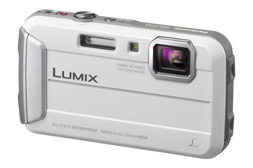 Panasonic DMC-FT25EG-W Fotocamera Subacquea 16 MP Zoom 4x MP4 Water Proof 7 m, Bianco