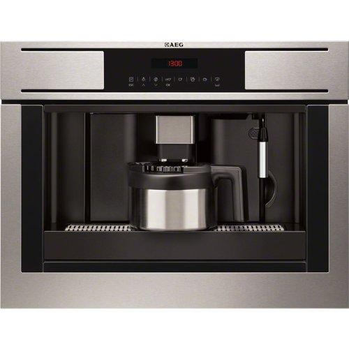 AEG PE4511-M Integrado Totalmente automática Máquina espresso 1.8L 6tazas Acero inoxidable - Cafetera (Integrado, Máquina...