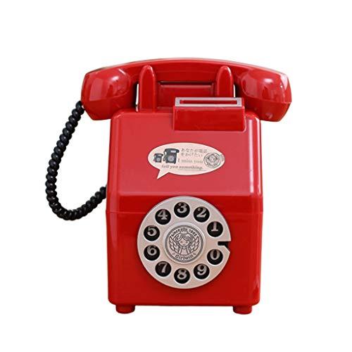 WINON Huchas Moneda Teléfono Creativa Hucha de teléfono Caja de Dinero de la Historieta de la Placa giratoria de la Caja de Dinero Digital Teléfono Piggy Banco Regalo de los niños Tarro de Dinero