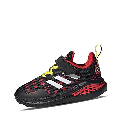 adidas Performance H68114 Fortarun Superhero I Spiderman Boys' First Walking Shoes Mesh Flexible Size, Black / red / yellow, 5.5K