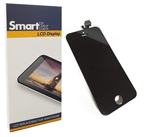 Smartex New Display LCD Schwarz kompatibel mit iPhone 5 / Bildschirm LCD Retina und Glas Touchscreen