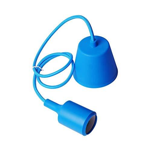 OSALADI - Portalámparas Colgante E27, lámpara Colgante con portalámparas de Silicona (Azul Oscuro)