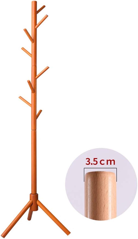 HHXD Coat Stand,Floor Standing Solid Wood Bedroom Hangers Household Living Room Coat Rack Stand,Strong Durable Strong bearing capacity Practical C   40  40  175cm