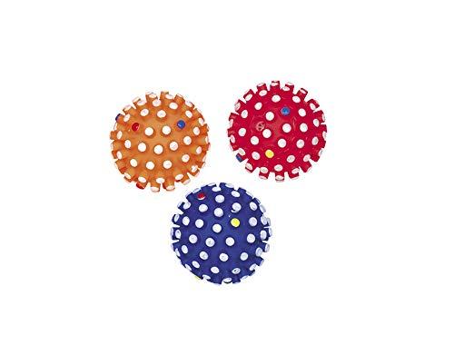 Nobby Vinyl Noppenball Classic mit Squeaker farbig Sortiert Ø 6 cm