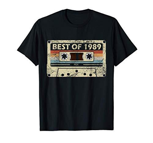 Regalo de 32 cumpleaños años de música Cassette Best of 1989 Camiseta