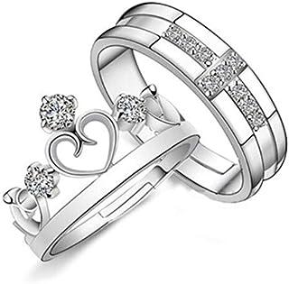 زوجين خاتم مجوهرات تاج الرجال والنساء بسيطة افتتاح النسخة الكورية