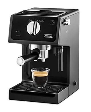 Foto di De'Longhi ECP31.21 Macchina da Caffè Espresso Manuale e Cappuccino, Caffè in Polvere o in Cialde E.S.E., 1100 W, Nero