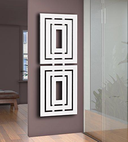 Badheizkörper Design Insight 2, HxB: 162 x 60 cm, 1224 Watt, weiß (Marke: Szagato) Made in Germany/Bad und Wohnraum-Heizkörper (Mittelanschluss/Seitenanschluss)