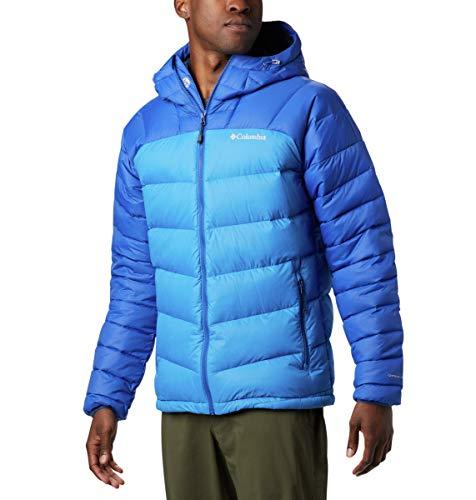 Columbia Centennial Creek - Chaqueta con capucha para hombre, talla grande, azul y azul