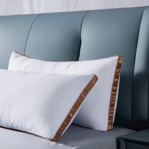 IMISSYOU 2er Set Super Weich Mikrofaser Kopfkissen, Hochwertige Hotel Kissen 40X80cm, Doppelseitenband-Design behält die Form dauerhaft Flauschig, Hotel Qualität,Waschmaschinenfest