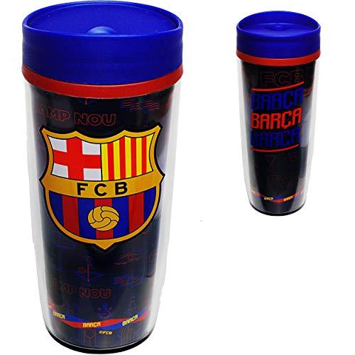 alles-meine.de GmbH doppelwandige - Isolier & Thermo - Trinkflasche / Trinkbecher / Becher - Fußball - FC Barcelona - FCB - BPA frei - 533 ml - auslaufsicher - Kaffeebecher to go..