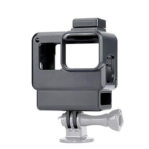 DAXINIU For el Adaptador Vlog acción de la cámara del Caso for GoPro héroe 7 6 5 Zapato Negro con frío Montaje for micrófono Externo de 3,5 mm + Pro Mic Accesorios de la cámara