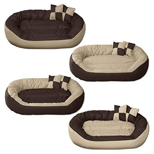 BedDog® 4en1 Sunny Beige/Marron XXXL Aprox. 150x120cm colchón para Perro, 13 Colores, Cama, sofá, Cesta para Perro