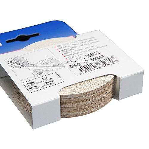 Kantenumleimer für Möbelbauplatten und Regalbretter Sonoma Eiche 5 m x 20 mm