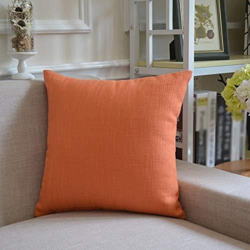 Decoratieve Sierkussens Voor Huishoudelijk Gebruik, Vierkante Kussenslopen Voor Bedbanken En Auto's, Hoge Elastische Ademende Ondersteuningskussens Voor Rug- En Heupdruk,Orange,60×60cm