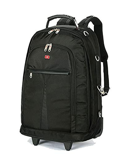 ZXM Backpack BACKPAGGIO Backpack BACKPAGGIO BACKPAGGIO BACKPAGGIO Anti-SCOSSO Anti-Shock Scomparto Imbottito Staccabile, Barra di tiro Nascosta Booker Rullo Impermeabile (Colore : Nero, Size : M)