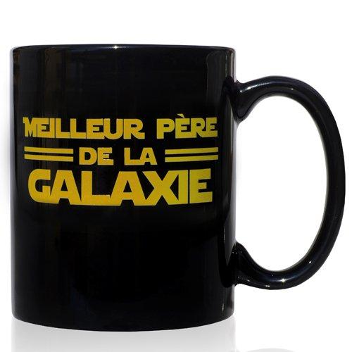 VOODOO ISLAND Tasse mug Petit-déjeuner de céramique Noire 32 cl. modèle Père de la Galaxie