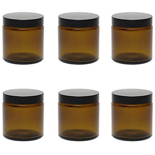 Viva Haushaltswaren # 39502# 6Cristal Tiegel 120ml/pomada Tiegel/Crema Tiegel/Cristal latas Especias/Vasos de...