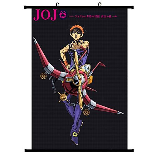 Mio Sama Jojos Bizarre Abenteuer Wandrolle,japanische Anime Golden Wind Stoff Poster Hängen Dekor Erhältlich In DREI Größen-g 30x45cm(12x18inch)