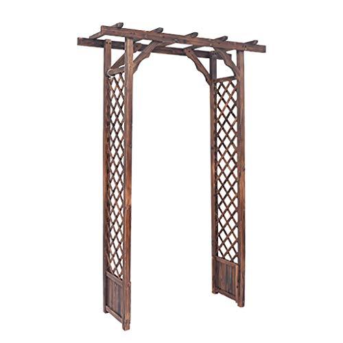 RuBao Square Top Arch,Wooden Trellis Arch Rose Arch 180x40x210cm Arbour Gazebo Pergola,for Outdoor Garden Entryway Patio Climbing Plants