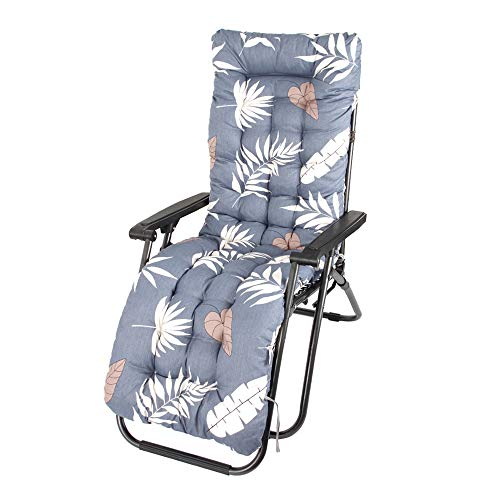 Sun Lounger Cushions Thick Replacement Garden Recliner Non-slip Soft Lounger Cushion High-Backed Cushion for Travel Holiday Garden Patio Indoor Outdoor, No Chairs (Style B)