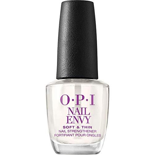 OPI Nail Strengthener, Soft and Thin Nail Envy Treatment, 0.5 Fl Oz