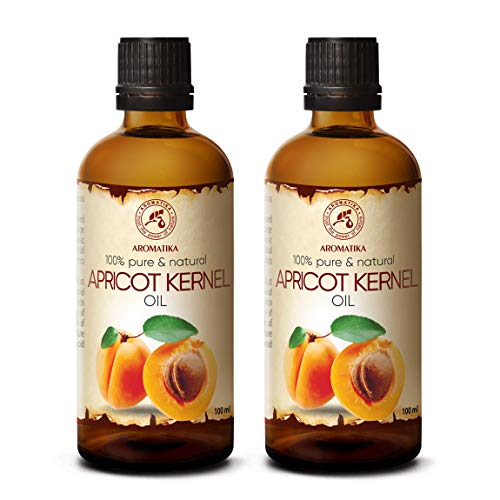 Huile de Noyau Abricot 2x100ml - Prunus Armeniaca Kernel Oil - 100% Pur & Naturel 200ml - Huile de Base - Huile Corporelle - Hydratant - Propriétés Revitalisantes - Soins Intensifs pour Visage