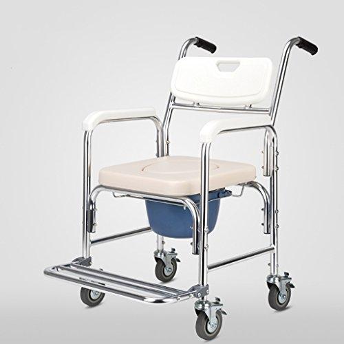 GLJJQMY - Silla de ruedas para silla de ruedas, almohadillas de freno y pedales para baño