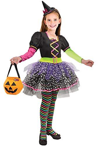Ciao- Barbie Strega Multicolor Halloween Special Edition Costume Bambina (Taglia 8-10 Anni), 11659.8-10