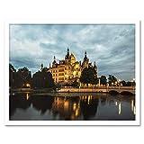 Krumbholz Schwerin Castle Germany Photo Art Print Framed