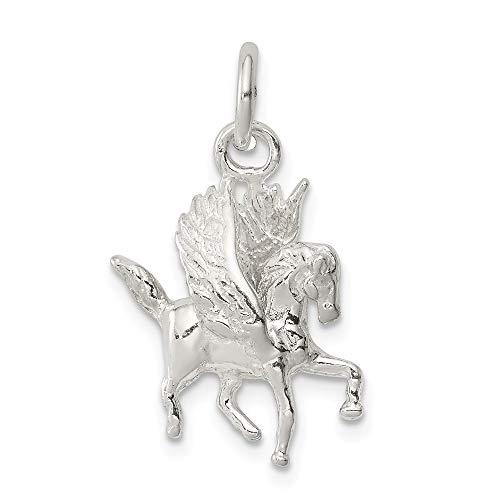 Diamond2Deal 925 Sterling Silber Pegasus Anhänger für Frauen