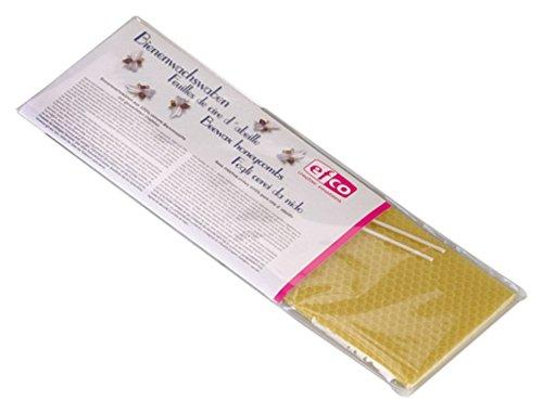 efco Cera de Abejas 2 láminas Panal Plus 2mechas, 30x 10cm
