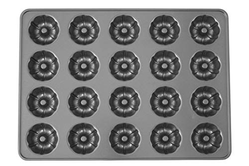 Wilton Perfect Results Premium Non-Stick Mega Mini Fluted Tube Pan, 20-Cavity