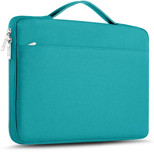 ZINZ Maletín 15 15,6 16 Funda Portátil Impermeable para 15-16 Pulgadas MacBook Pro 16 15, Surface Laptop 3 15,XPS 15 Laptop Ultrabook Netbook, DELL HP Lenovo Acer ASUS y más, Azul de Lino