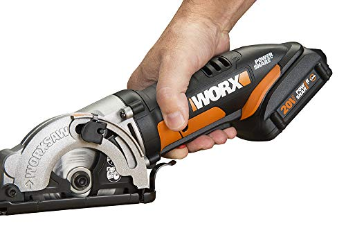WORX WX523L 20V 3-3/8' Max Lithium-Ion Plunge Circular Saw