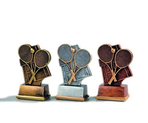 3 Tennis-Pokale (Gold, Silber, Bronze) mit Ihrer Wunschgravur