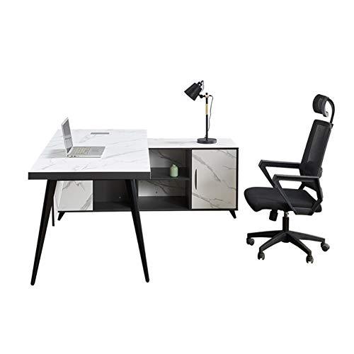 RLIRLI Marmeren computertafel Scandinavische moderne minimalistische tafel en stoel combinatie bureaumeubel desktop computertafel bureau