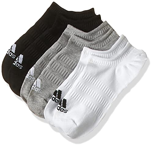 adidas DZ9414 LIGHT NOSH 3PP Socks unisex-adult medium grey heather/white/black L
