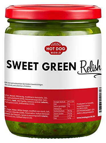 HOT DOG WORLD - Sweet Green Relish 0,5 L, süße-Gurken Würzsoße