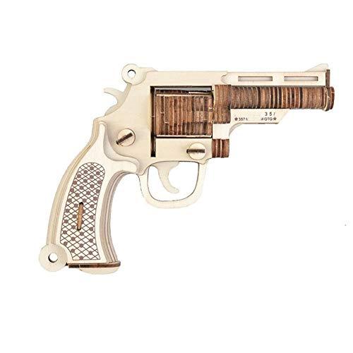 DNAMAZ Pistolas El Corte de Madera del Rompecabezas 3D del Rompecabezas del Arma M19 Asamblea Bulldog Bricolaje niños educativos de Madera de Juguete for niños Chicos Bandas (Color : M19 Bulld
