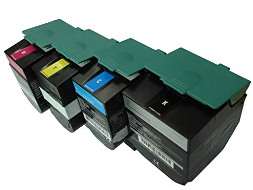 Quality Laser Toner Replacement for Lexmark C544 C546 X544 X548 Extra High Yield Toner Cartridge Set 6,000/4,000 Pages C544X1KG C544X1CG C544X1MG C544X1YG - Remanufactured