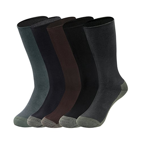 Gather Other 5 Pairs Odor Resistant Performance dress socks Athletic Socks for Men and Women