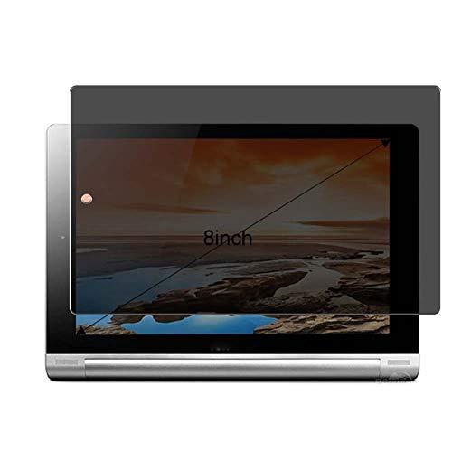 Vaxson Protector de Pantalla de Privacidad, compatible con Lenovo Yoga Tablet B6000 B6000-F B6000-H 8' [no vidrio templado] TPU Película Protectora Anti Espía